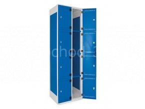 Šatní skříň 8-boxová, 1970 x 600 x 500 mm - kovové