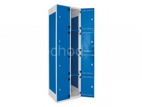 Šatní skříňka 8-boxová, 1970 x 600 x 500 mm - kovová