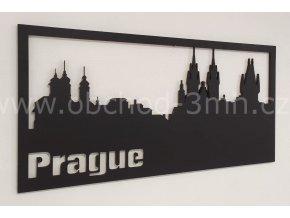 Dřevěný obraz - PRAGUE - BAREVNĚ LAKOVANÝ