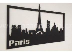 Dřevěný obraz - PARIS - BAREVNĚ LAKOVANÝ