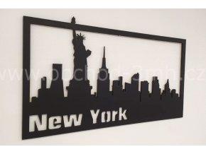 Dřevěný obraz - NEW YORK - BAREVNĚ LAKOVANÝ