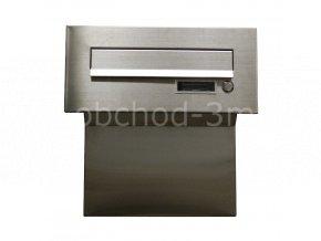 Poštovní schránka F-04 do sloupku + čelní deska bez jmenovky ČD-4 - KOMPLETNÍ NEREZ