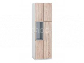 Šatní skříňka 6-boxová Modular 1970 x 800 x 500 mm - lamino/kov