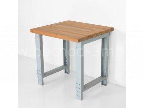 Dílenský stůl 750 x 655–1005 x 700 mm, kov a spárovka