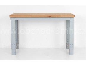 Dílenský stůl 1200 x 655–1005 x 700 mm, kov a spárovka