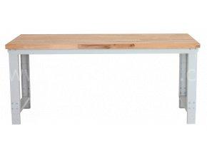 Dílenský stůl 1500 x 655–1005 x 700 mm, kov a spárovka