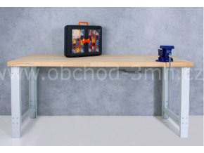 Dílenský stůl 1700 x 655–1005 x 700 mm, kov a spárovka