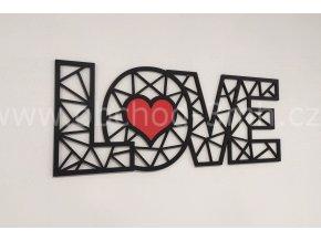 Dřevěný obraz - LOVE - BAREVNĚ LAKOVANÝ