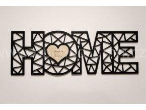 Dřevěný obraz - HOME - BAREVNĚ LAKOVANÝ
