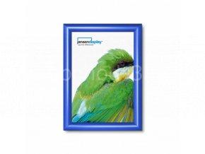Klaprám A4, ostrý roh, profil 25mm, barva RAL 5010 modrá