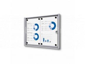 Interiérová vitrína Economy 2xA4 - plechová záda