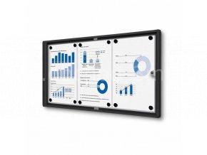 Interiérová vitrína Economy 3xA4 - plechová záda, černá