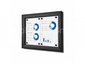 Vnitřní uzamykatelná vitrína základní 2xA4, černá