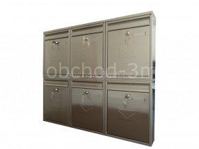 Poštovní schránka COMO v sestavě pro zazdění