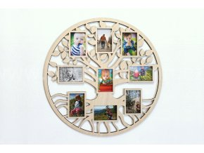 Fotorámeček - Dřevěný strom v kruhu