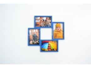 Fotorámeček - na 4 fotografie barevně lakovaný