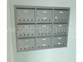 Poštovní schránka PE-03 v sestavě pro zazděníE03R2