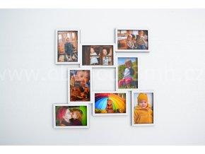 Fotorámeček - na 8 fotografií barevně lakovaný