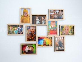 Fotorámeček - na 10 fotografií barevně lakovaný