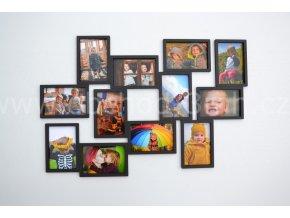 Fotorámeček - na 12 fotografií barevně lakovaný