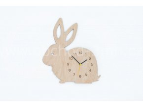 Hodiny dětské dřevěné - králík