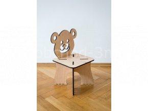 Dětská dřevěná stolička - MEDVÍDEK