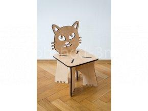 Dětská dřevěná stolička - KOČKA