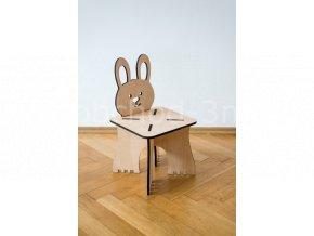 Dětská dřevěná stolička - ZAJÍČEK
