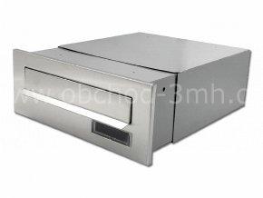 Poštovní schránka rovná k zazdění do sloupku šedá/NEREZ