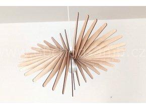 Dřevěné svítidlo WAVE 60