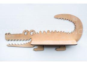 Dětská dřevěná polička - KROKODÝL