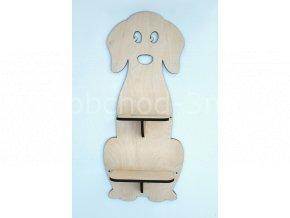 Dětská dřevěná polička - PEJSEK