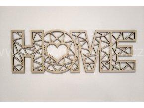 Dřevěný obraz - HOME