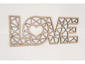 Dřevěný obraz - LOVE