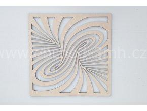 Dřevěný obraz - SPIRÁLA