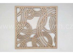 Dřevěný obraz - KRUHY