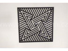 Dřevěný obraz - hvězda - BAREVNĚ LAKOVANÝ