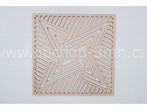 Dřevěný obraz - hvězda