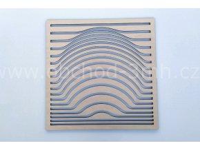 Dřevěný obraz - západ slunce