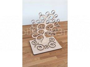 Stojánek na šperky - strom spirála dřevěný