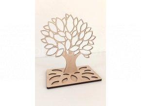 Stojánek na šperky - strom s lístky dřevěný