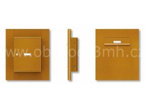 Poštovní schránka MC-260-V v sestavě pro zasklení do pevného dílu dveří