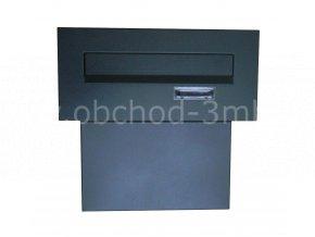 Poštovní schránka do sloupku + čelní deska se jmenovkou - antracit