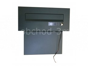 Poštovní schránka do sloupku + čelní deska se jmenovkou a se zvonkem - antracit