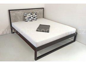 Kovová postel ECHT - beton