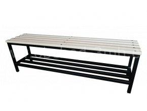 Šatní lavice, 460 x 1500 x 350 mm - dřevěné latě/kov