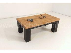 Odkládací stůl ECHT I8 - masivní deska dub