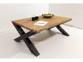 Konferenční stůl X8 - masivní deska dub