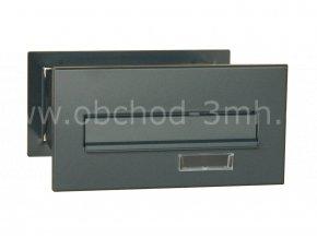 Poštovní schránka MD rovná k zazdění do sloupku antracit