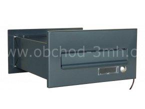 Poštovní schránka MD rovná k zazdění do sloupku antracit se zvonkovým tlačítkem
